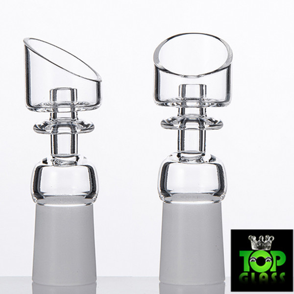 Beveling Top Big Bowl Domeless Quartz Nail For Glass Water Pipes Bongs oil rigs free shipping with Frosted Joint