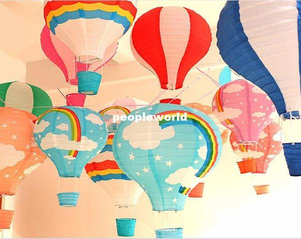 linternas de papel al por mayor de 12 '' (30 cm) Linternas de papel redondo lámparas festival de la boda decoración linternas de papel chinas