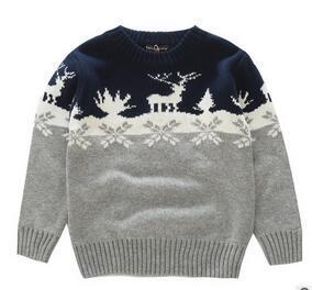 Atacado e varejo 2017 crianças clothing boy fanhion pullover sweater estilo coréia crianças cervos impresso camisola frete grátis