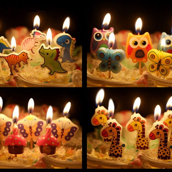 2 Set Creative Fashionable Birthday Cake Candles to Give A Special Party to Kids Animal Car Boat Dinosaur Rabbit Fish Accessory