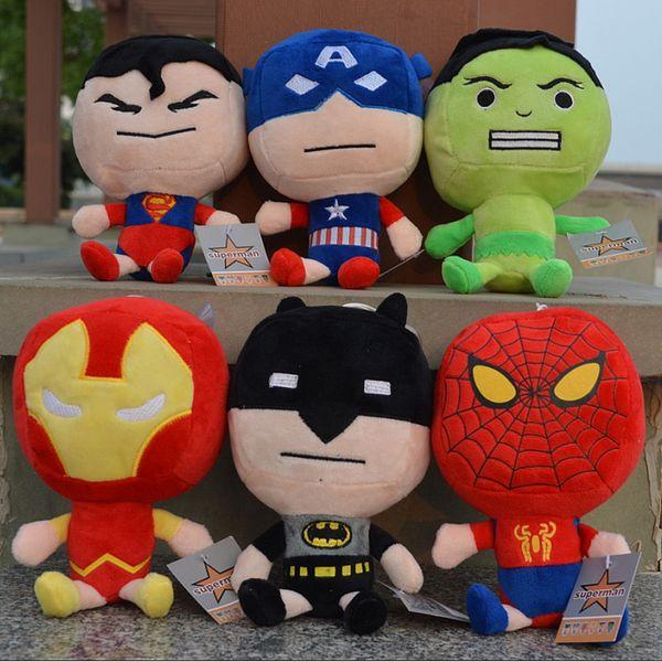Wholesale marvel The Avengers plush toy Captain America Iron Man Wolverine X-Men Thor Spider man 5pcs/set soft doll stuffed toy 20cm