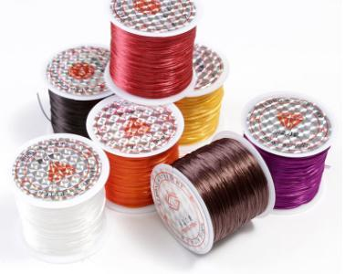 New arrival professional sewing thread types hair weaving thread multi-color crystal hair threader for hair extension MOQ 3 rolls KS 039