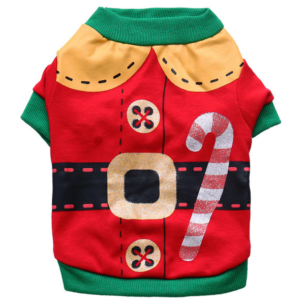 Christmas Pet Costume Santa Claus Clothes Halloween Pet Clothing Cotton Small Dog Chihuahua Teddy Clothes 5pcs/Lot Free Shippinng