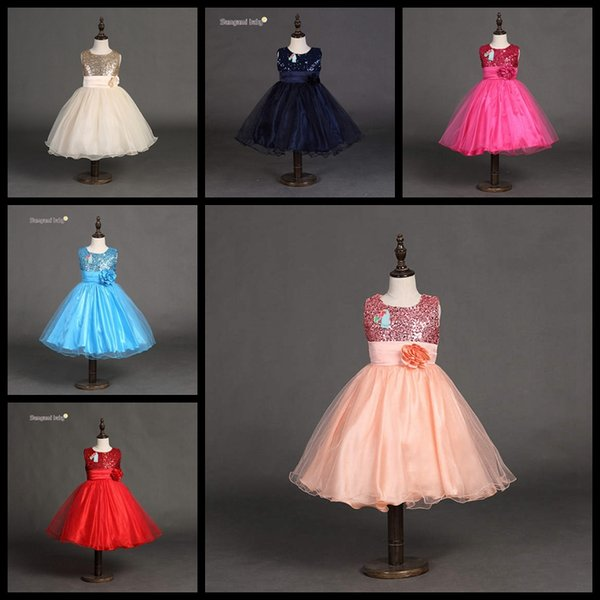 Wholesale children boutiques dresses 10 colors baby girls christmas halloween party prom dress girl princess tutu skirts kids ball gown