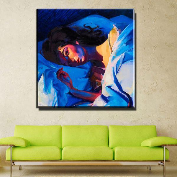 ZZ1005 modern decorative canvas art abstract portrait sleeping women canvas pictures oil art painting for livingroom bedroom art