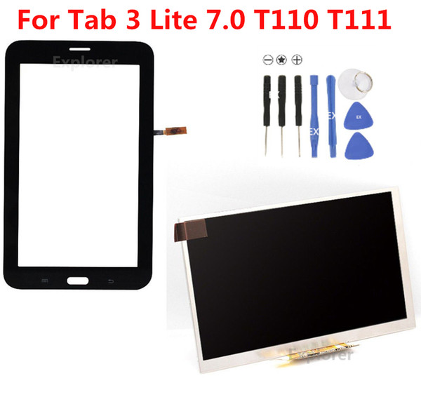 For Samsung Galaxy Tab 3 7.0 Lite SM-T110 T111 Touch Screen Tab 4 Lite T116 T113 LCD Display Panel Screen Replacement 1pcs