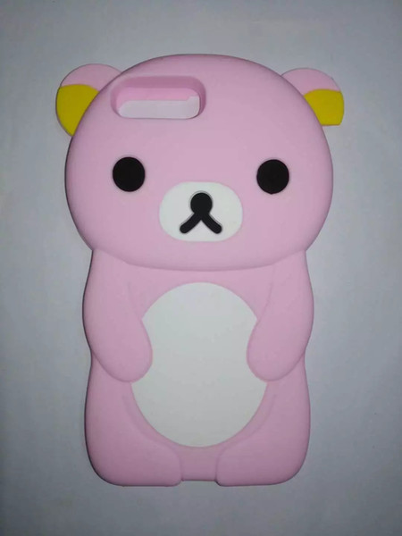 3D Cute Cartoon Animal Design Brown Teedy Bear Soft Silicone Case for Iphone 7 7 Plus 6 6 Plus 5 5S 5C 4S