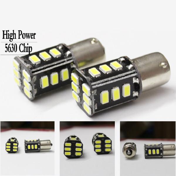 Super Bright 1156 LED BUBL P21W BA15S 12VDC 18LED 5630SMD BULB White Corn bulb 650LM 5W vehicle tail lights brake lights reverse lights