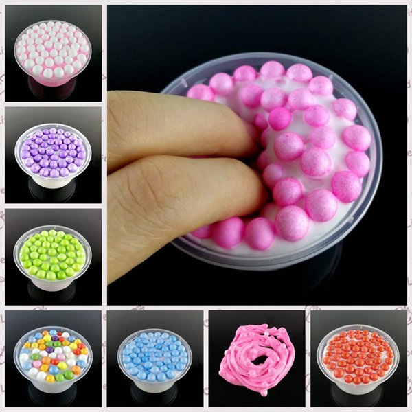 8 colors Slime Mud Fluffy Floam Slime Stress Relief Scented Kids Toys Floam Slime Hand Putty Play Good Christmas Gift for Kids YYA555