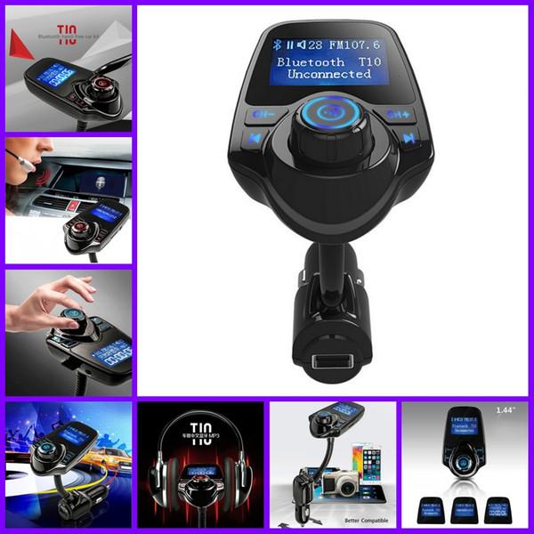 Bluetooth Araç Kiti Handsfree FM Verici MP3 Müzik Çalar 5 V 2.1A USB Araç Şarj Iphone Samsung Için Mavi LED Ekran ile