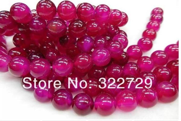 4mm-18mm DIY artesanal jóias naturais gemstone frisado cristal cereja rosas vermelhas contas de ágata vermelha atacado