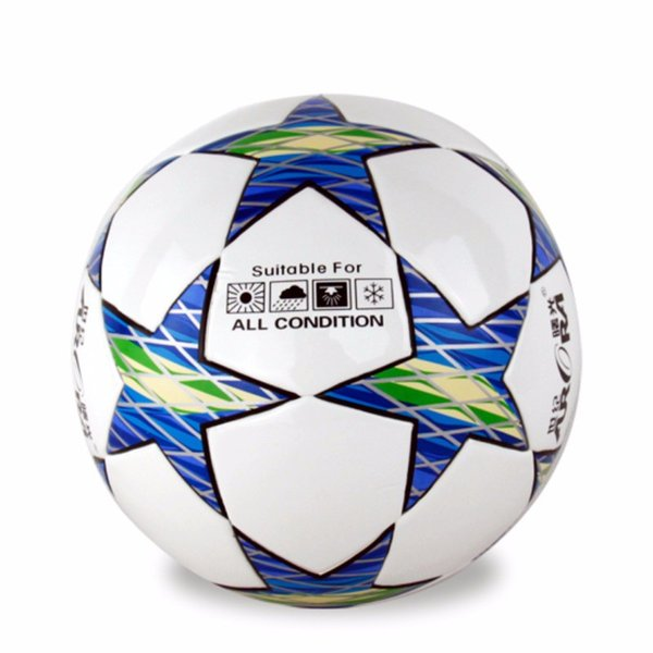 Fashion Size 5 Anti-slip Pure Hand Sewn Soft TPU League Soccer Football Ball For Training Competition