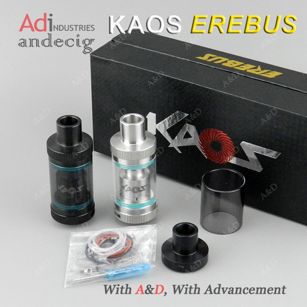 Clearance ! Original USA Design KAOS EREBUS RTA 25mm Rebuildable Atomizer Dual Coil Build Decks FOR High Wattage BOX MOD
