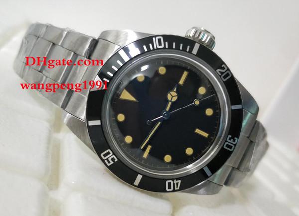 uomini di alta qualità Guarda 40 millimetri Vintage 1675 vetro zaffiro Asia 2813 movimento bracciale in acciaio inossidabile automatico meccanico orologi da uomo