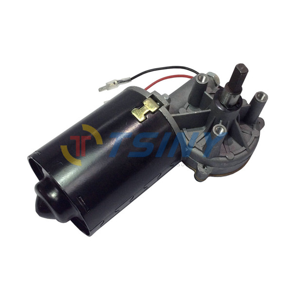 24V Electric Worm Gear Motor DC 24V 45RPM Garage Door Replacement High Torque 7N.m Right Angle Right Gearbox