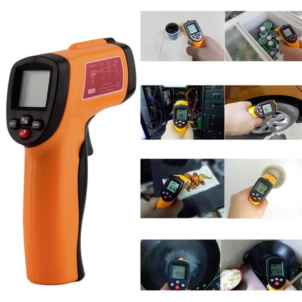 Hot GM300E Worldwide Digital Infrared Thermometer Non-contact LCD IR Laser Temperature Tester Gun