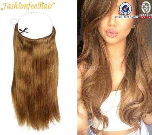 Brazilian Natural Hair 10 30 Flip In Hair Extension 50 100g Halo