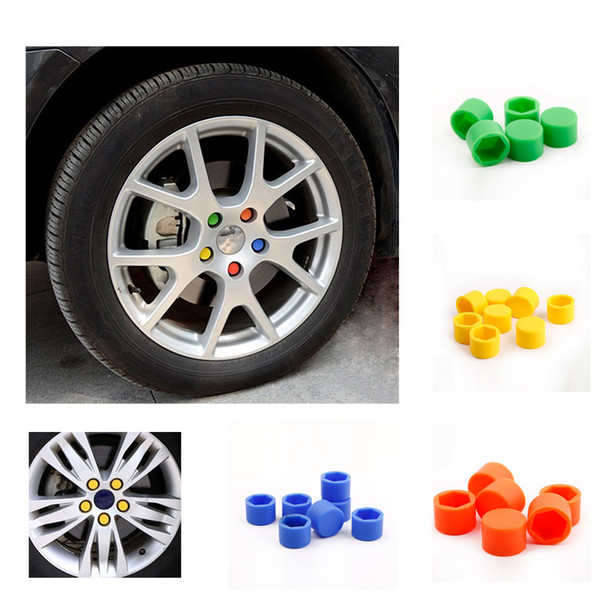 1a185595f49 20Pcs 17mm Silicone Auto Motorcycle Car Wheel Nut Cover Lug Nut Caps Bolt  Car Styling Interior