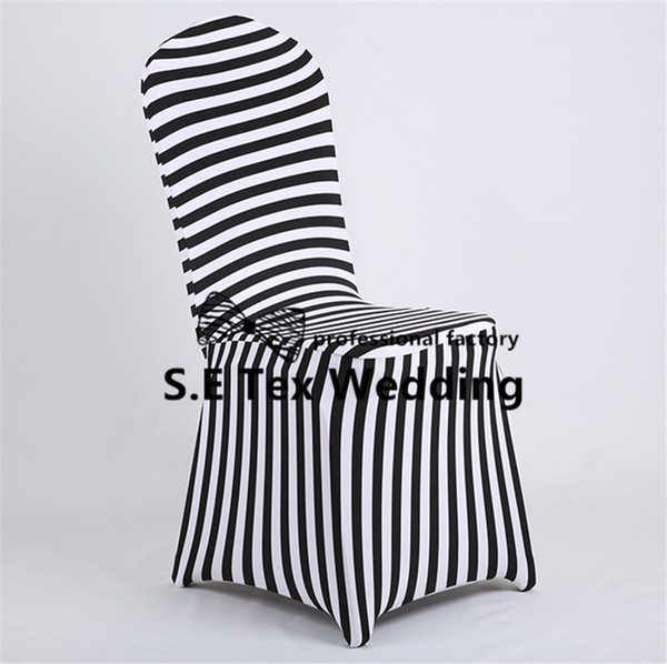 Hot Sale Striped Lycra Spandex Chair Cover \ Cheap Banquet Wedding Chair Cover Free Shipping