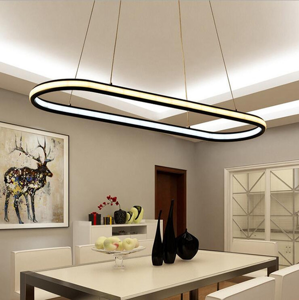 double glow hanging light aluminum modern led chandeliers led pendant lighting fixtures living dining kitchen room high brightness