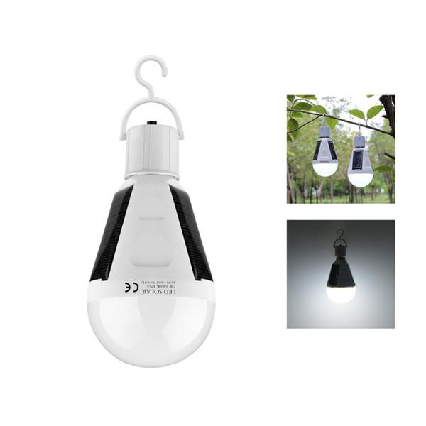 Asılı LED Güneş Acil Ampul 85-265 V E27 7 W Açık Yürüyüş için 12 W Şarj Edilebilir LED Güneş Lambası Kamp Çadır Balıkçılık