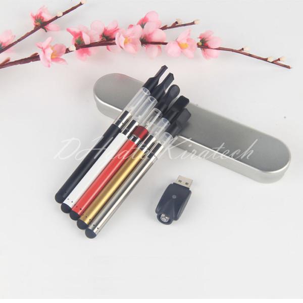 510 Bud Touch Vape Starter Kit Battery Vapor Pen CE3 Catridge Buttonless Pen Dab Metal Box Kit With Mini USB Charger High Quality