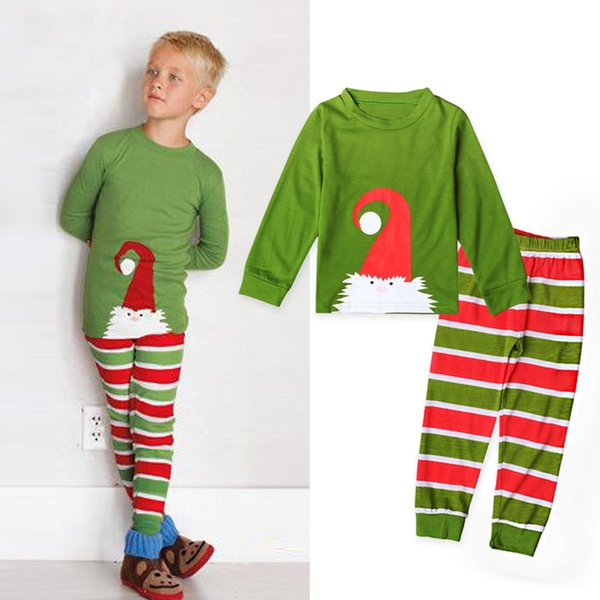 Christmas Footie Pajamas For Kids.Children S Christmas Clothing Set Kids Christmas Pajama Set Cartoon Boys Santa Claus Sleepwear Long Sleeves Kids Pyjamas Infant Baby Boy Pa Christmas