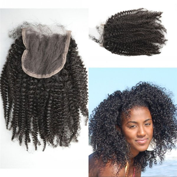 Kinky Curly Indian Human Hair Lace Closure for Black Women Free Part Closures with Baby Hair FDSHINE