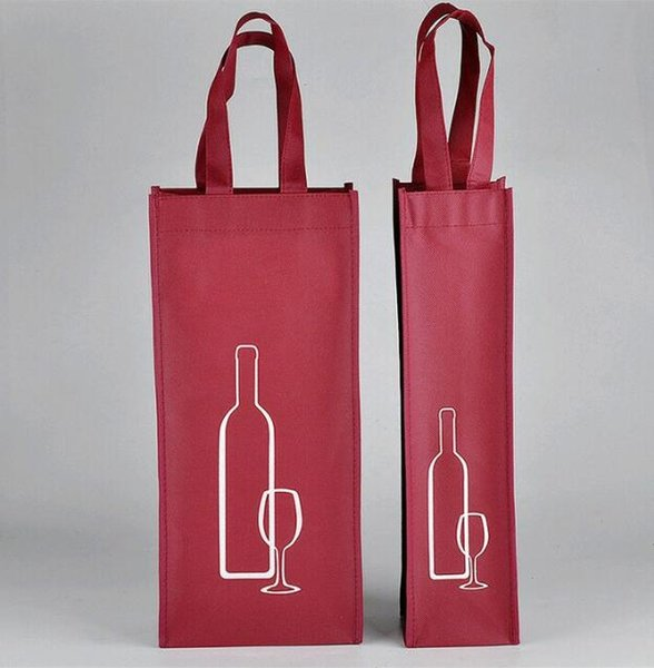 Portable Non-woven Fabric Red Wine Storage Bag For One/Double Bottles Wine Package Gift Party Packing Handbags