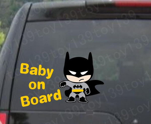 "or / Baby Batman ""BABY ON BOARD"" Vinyl Car wall phone stickers window Decal Sticker decal / reflective silver reflective yellow /"