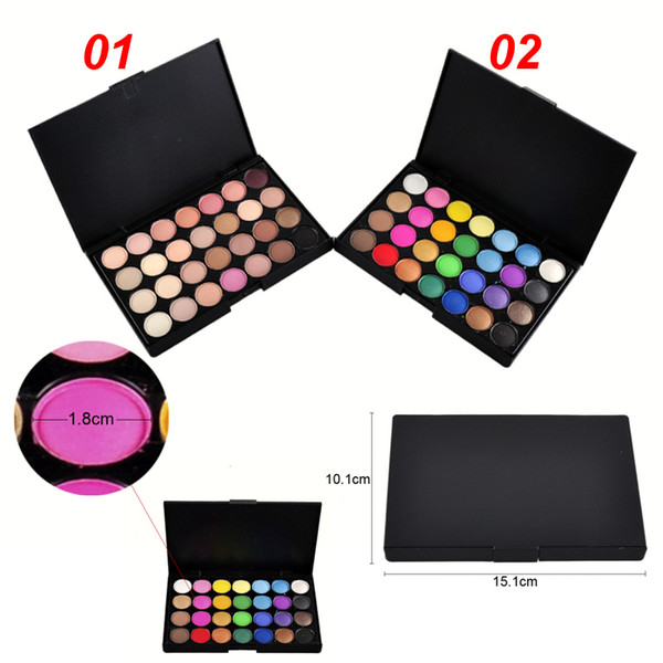 top popular 28 Colors Makeup Eyeshadow Palette New Professional Eye Shadow Shimmer Matter Somky Eye Shadow 2801007 2019
