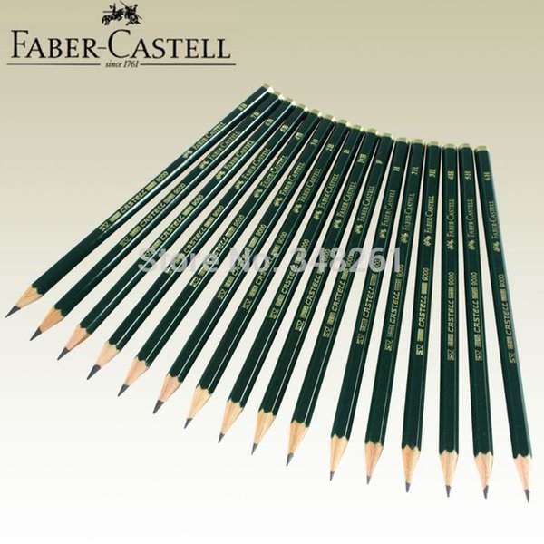Wholesale-16pcs of Faber Castell 9000 Graphite Pencil for Writing Drawing and Sketching Art Set