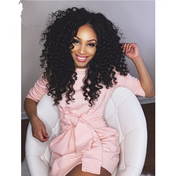 Deep Curly Brazilian Virgin Hair Full Lace Human Hair Wigs 130 Density With Baby Hair Natural Hairline Bleached Knots Lace Front Wigs