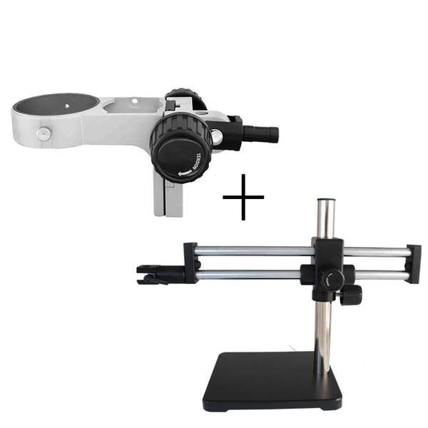 ZJ-712 de braço duplo Boom Stand microscópio de pé horizontal e de rotação horizontal gama de 360 ° de rotação telescópico telescópica gama 320 milímetros