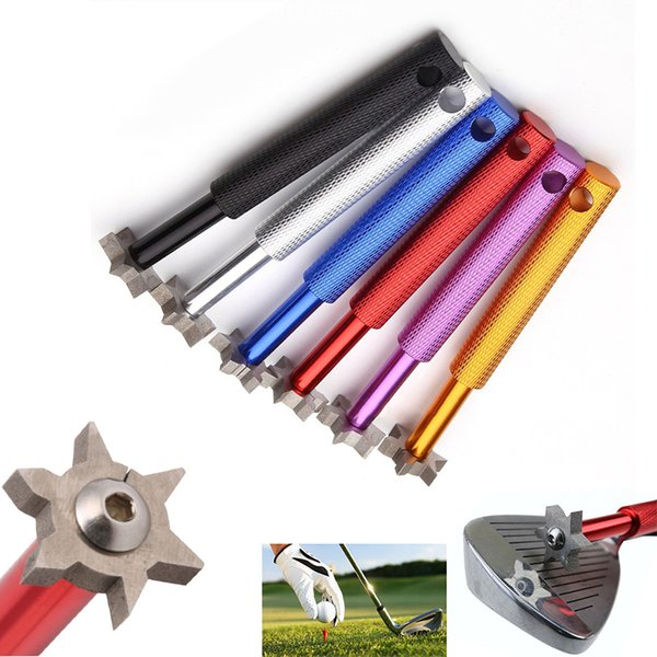 2017 Golf Club Grooving Sharpening Tools Golf Groove Cleaner Sharpener Head Strong Alloy Wedge U V Blade Cutters Accessories With Cased