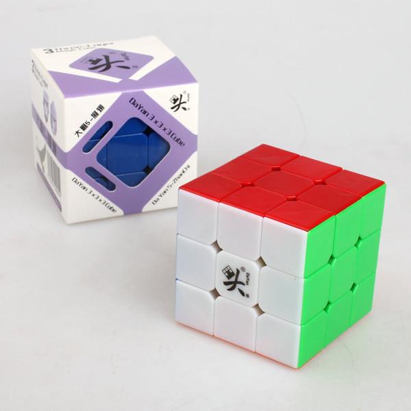 Dayan ZhanChi v5 Velocidade Cubo Mágico 3x3x3 57mm Puzzle Cube Preto Branco Stickerless Cubo Magico Enigma Velocidade Clássico Brinquedos Kid Presentes Navio Livre