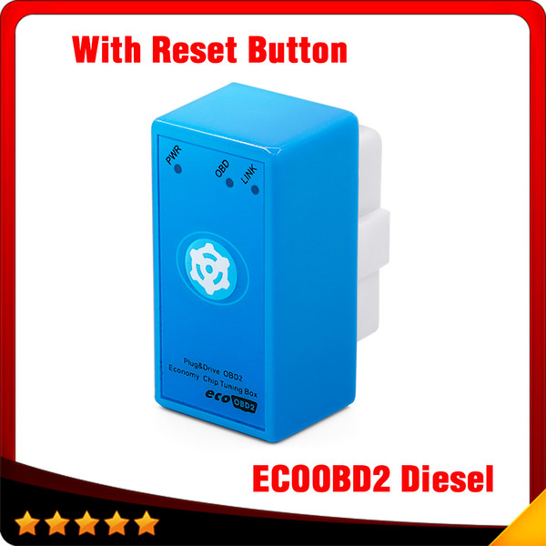2016 newest Car obd2 Chip Tuning Box Plug Drive ECOOBD2 Diesel Lower Fuel Lower Emission With Reset Button free shipping