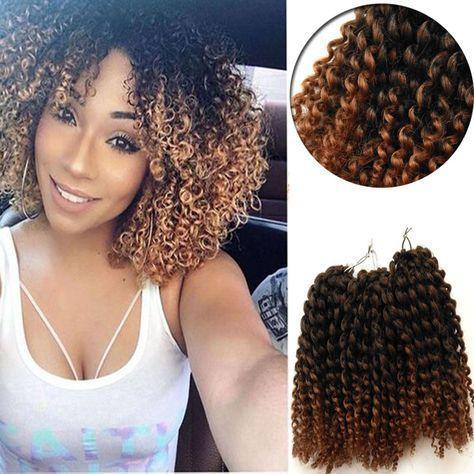Nouveau Freetress Jamaican Bounce Marlybob Kinky Curly Marley bob Extensions de Cheveux 8Inch Havana Mambo Twist gris ombre Crochet pour les femmes noires