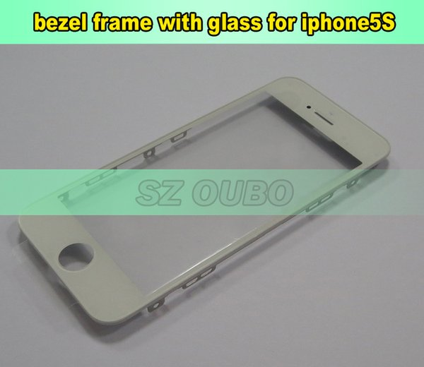 Original Front Glass Lens Bezel Frame Assembly for iPhone 5G 5S 5C Outer Screen Touch Panel Repair Replacement 75pcs/lot