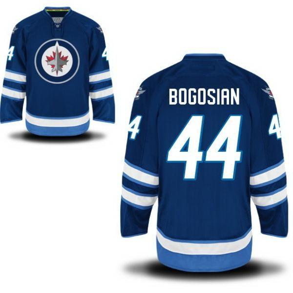 2014 새로운 Stlye 44 Zach Bogosian Jersey Hockey 저렴한 Bogosian Jersey 봉제 블루 Bogosian Jerseys 온라인
