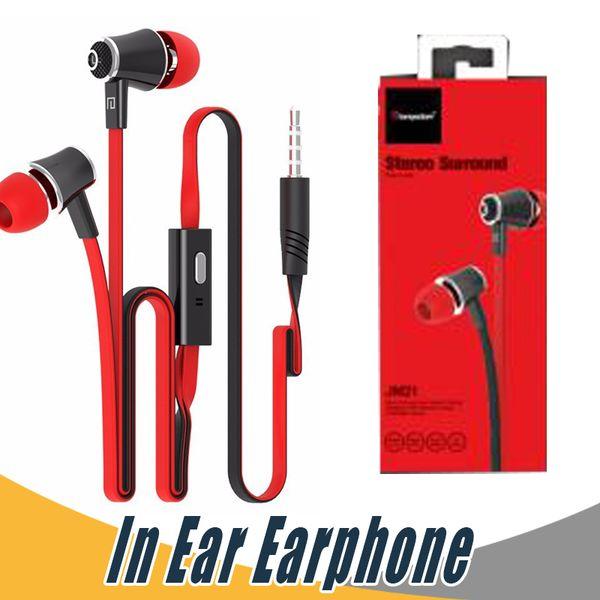 Langsdom JM21 В ухо телефона наушники с Micphone Красочный гарнитура Hifi Earbuds Bass Наушники для