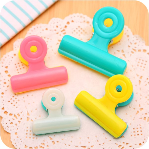 Candy Color Plastic Photo Clips Windproof Cloth Clamp Colorful Note File Retaining Clip for Organizing Household Helper