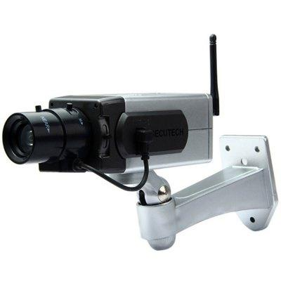 IP Cameras Battery Powered Practical Economic Dummy CCTV Security Camera with Activation Light B