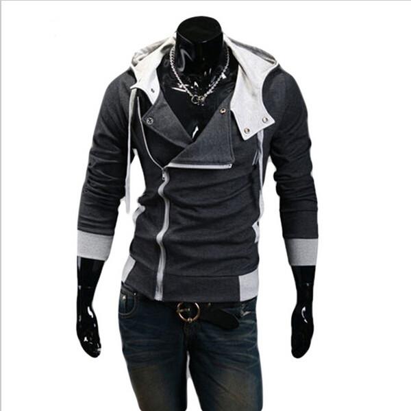12 цветов M-6XL толстовки мужчины толстовка мужской спортивный костюм с капюшоном куртка повседневная спорт Мужчины с капюшоном куртки спортивная одежда пальто moleton Assassins Creed