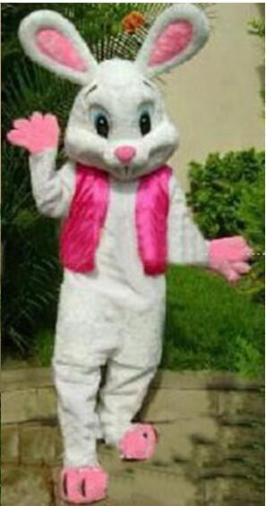 NEW PROFESSIONAL EASTER BUNNY MASCOT COSTUME Bugs Rabbit Hare Adult Fancy Dress Cartoon Suit Free Sh