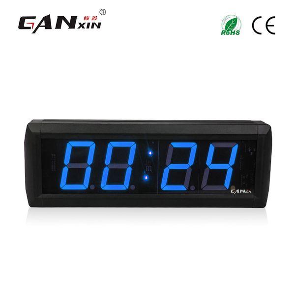 best selling [Ganxin] 2.3 inch 4 Digits Blue Color LED Display 7 Segment Display Led Countdown Clock Digital Wall Clock Remote Control Timer