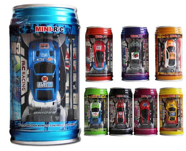 best selling 2016 New 8 Colors Coke Can RC Car Radio Remote Control Car Micro Racing Car Toy 4pcs Road Blocks Kid's Toys Gifts Rc Cars