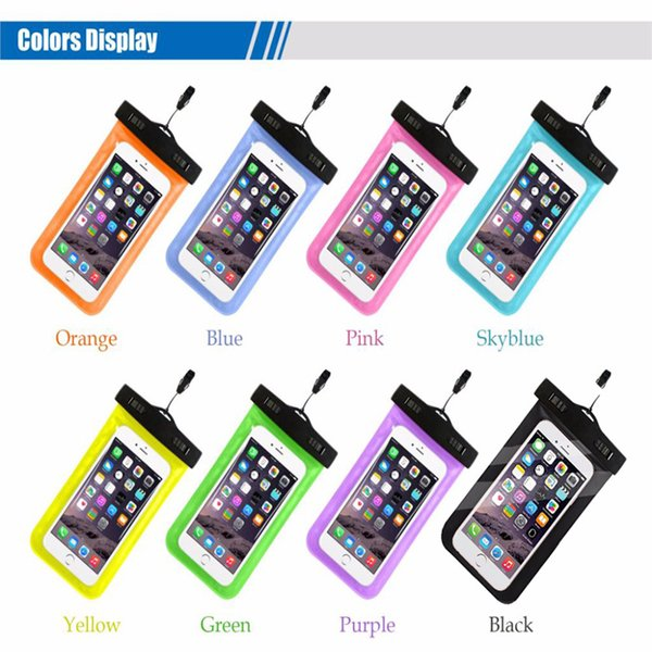 Hot sale outdoor PVC plastic dry case sport cellphone protection universal waterproof bag for smart phone DHL free shipping SCA359