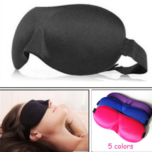top popular 1Pcs 3D Sleep Mask Natural Sleeping Eye Mask Eyeshade Cover Shade Eye Patch Women Men Soft Portable Blindfold Travel Eyepatch 2019