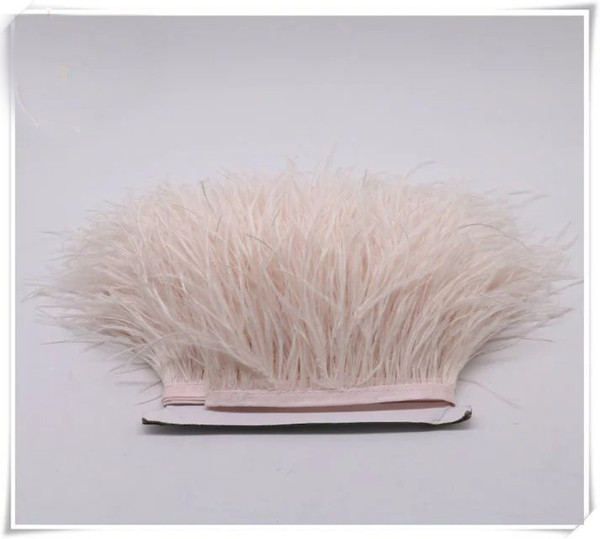 Free shipping 10yards/lot 5-6 inch in width ostrich feather trimming fringe for dress sewing crafts skrit supplies costume supply
